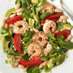 Roasted Shrimp, Tomato and White Bean Salad