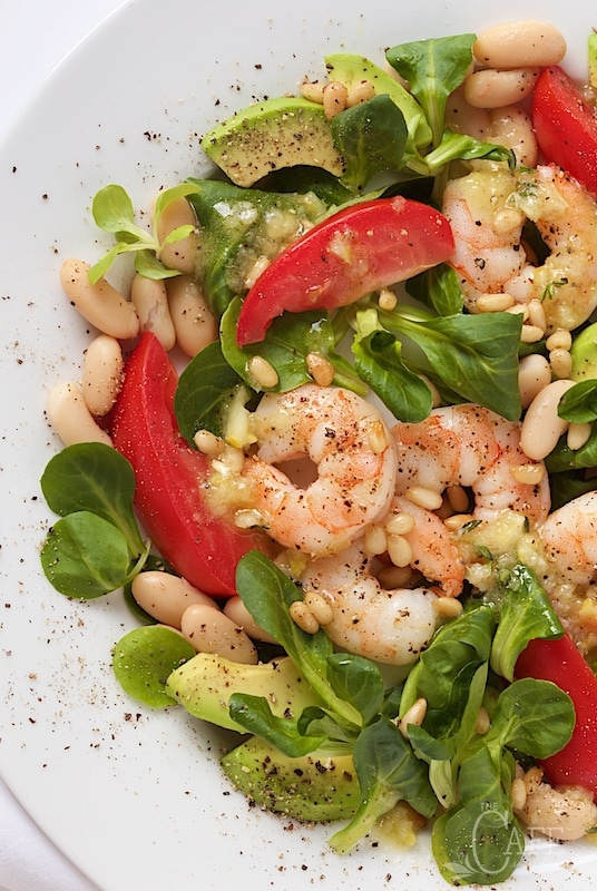 Roasted Shrimp, Tomato and White Bean Salad - it's easy enough for a weeknight dinner but elegant enough for your fanciest company - and it always brings rave reviews!