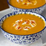 Roasted Thai Carrot and Sweet Potato Soup - if you love lots of flavor but want to cut back a bit on calories, this delicious Thai-inspired soup is perfect for you!