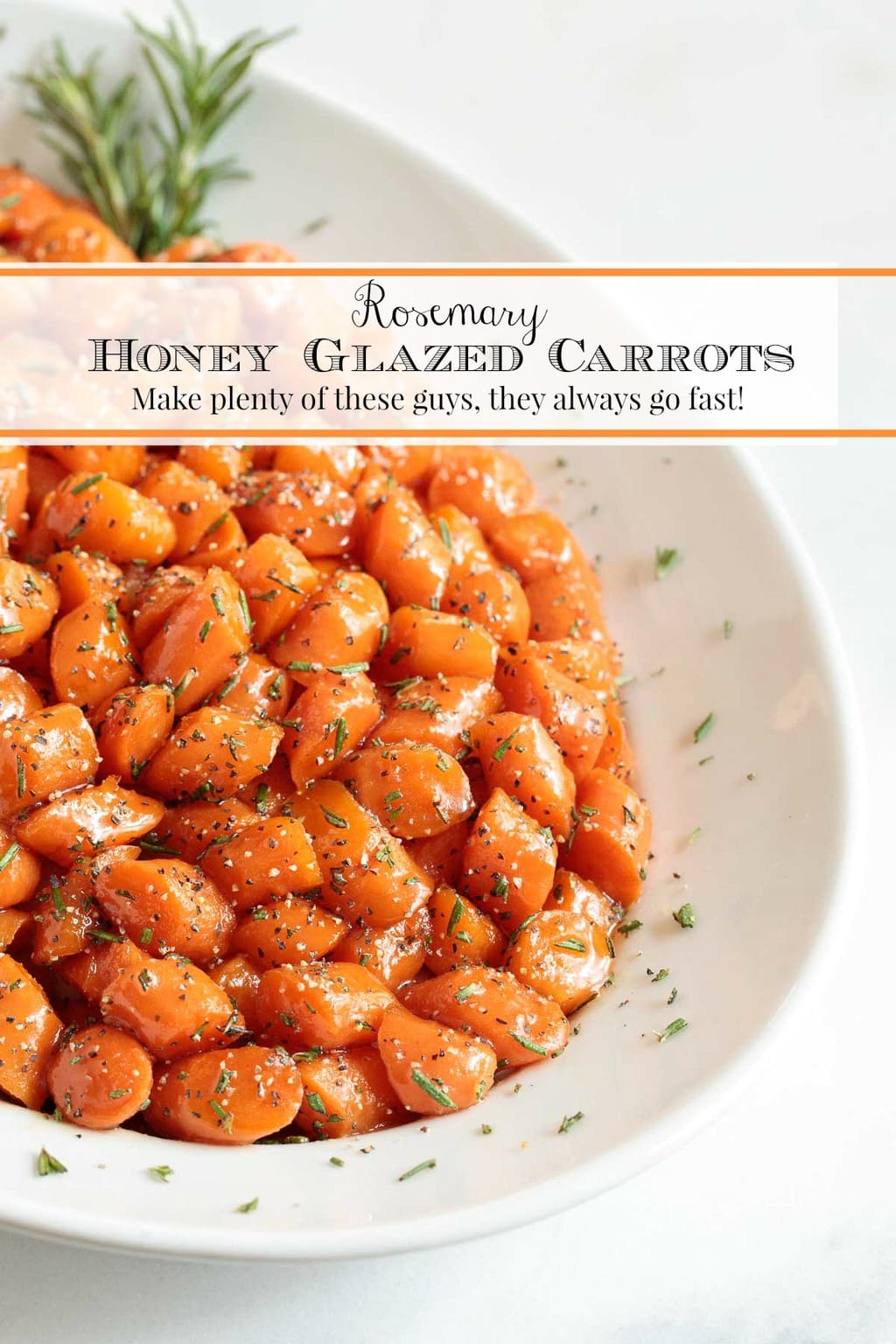 Rosemary Honey Glazed Carrots