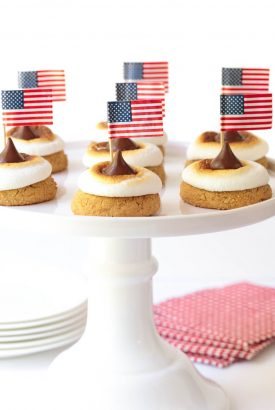 Easy S'Mores Blossom Cookies