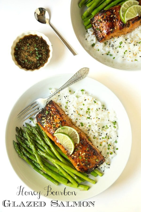 This salmon is deliciously company worthy, yet everyday easy! The sweet, sticky, spicy, gingery glaze/drizzling sauce is unbelievable!