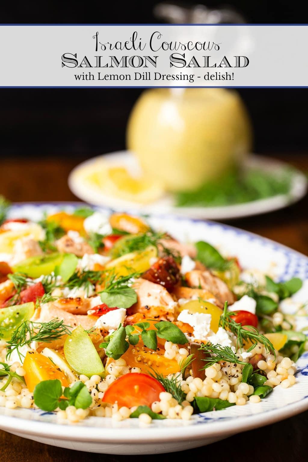 Israeli Couscous Salmon Salad