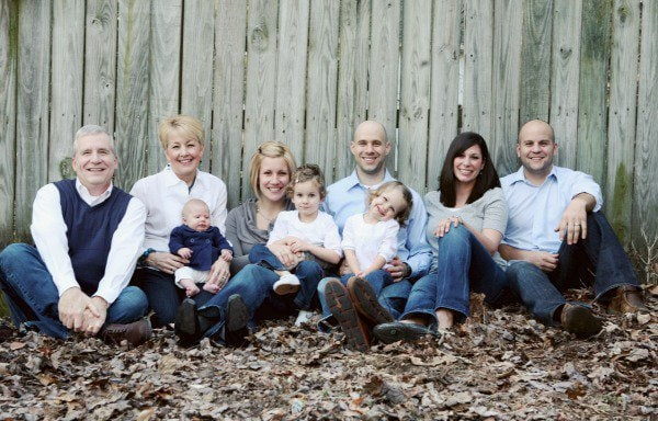 A shot of the Scheuer family, circa 2010.