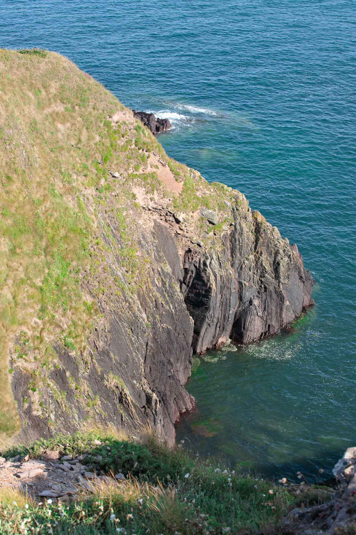 Photo of the cliffs at Ballycotton Cliff Walk in East Cork, Ireland.