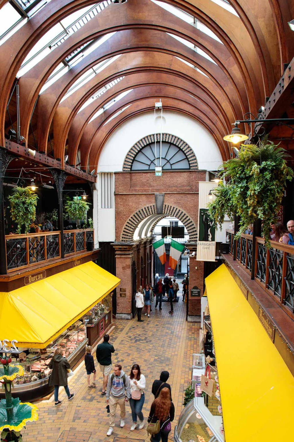 Photo of the main hall in the English Market in Cork.