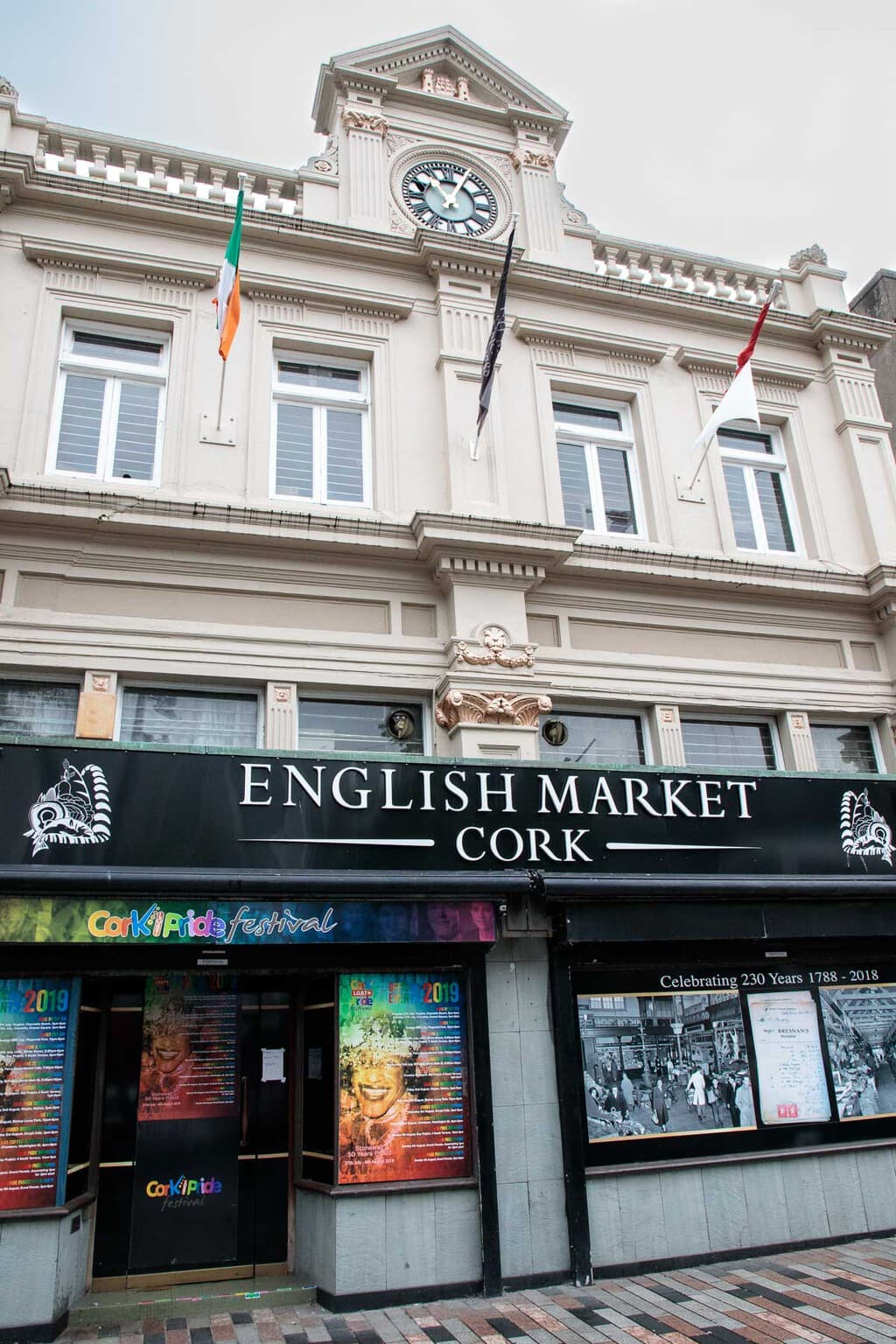 Photo of the entrance to the Cork English Market.