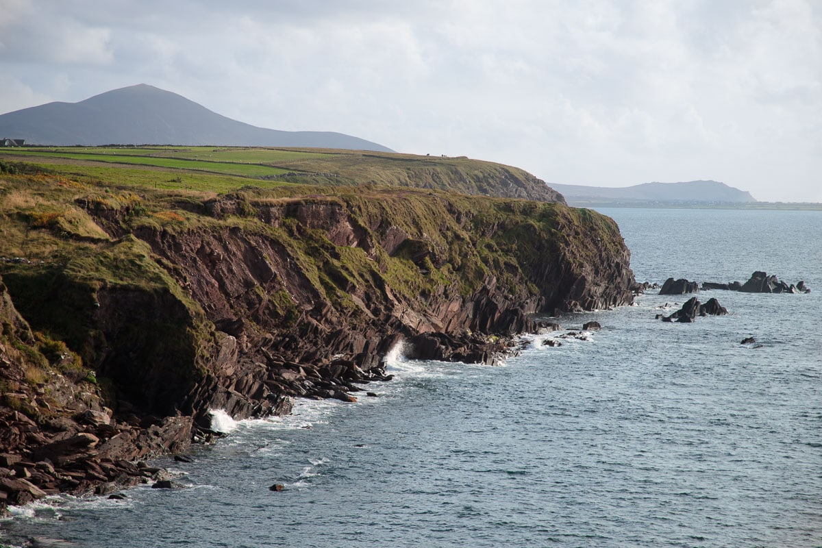 Photo along the Irish Dingle Peninsula coastline.