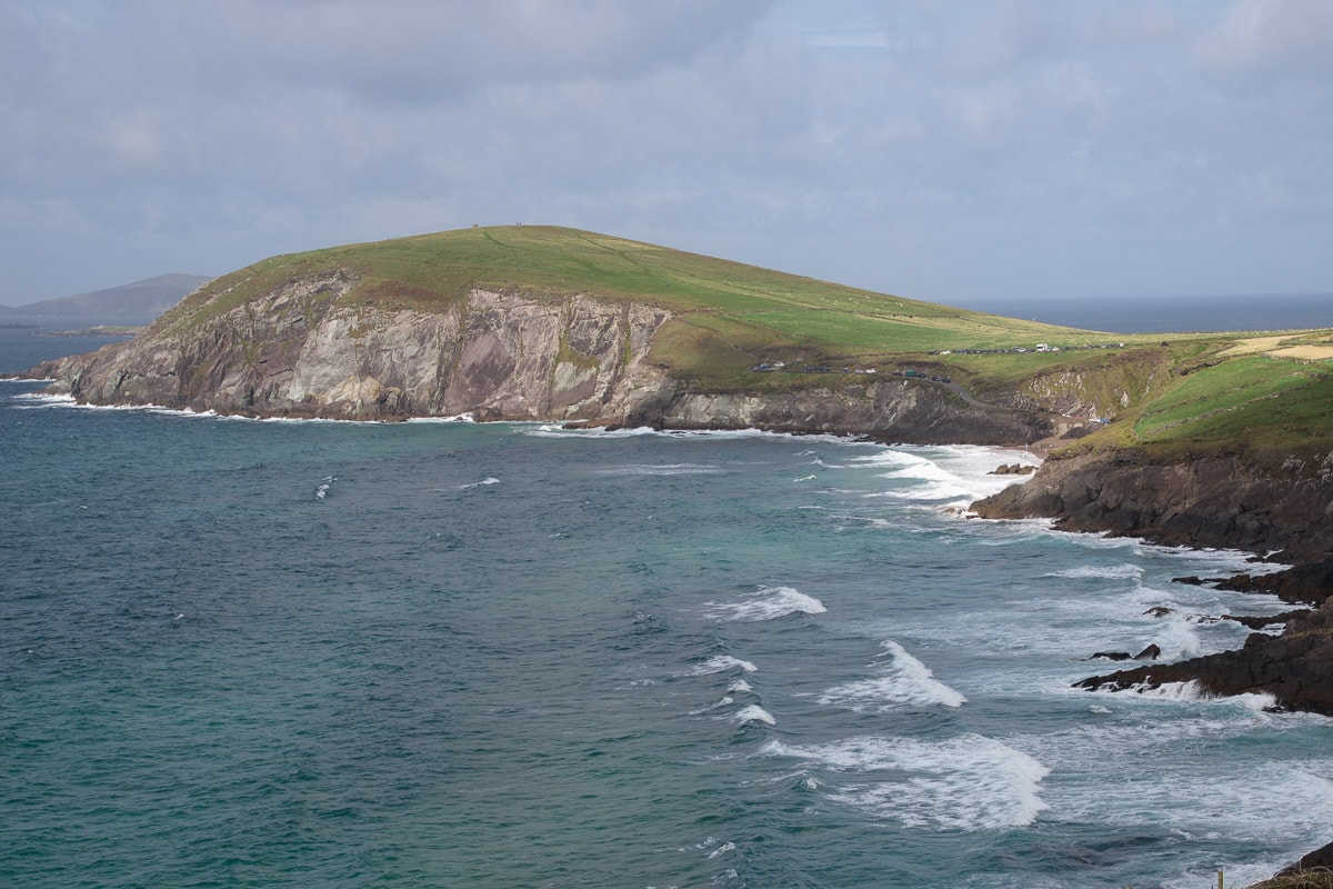 Photo of the coast line along the Dingle peninsula in Ireland.