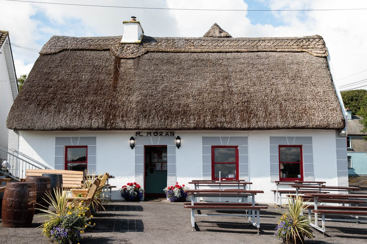 Photo of Moran's Oyster Cottage in Kilcolgan, Ireland.