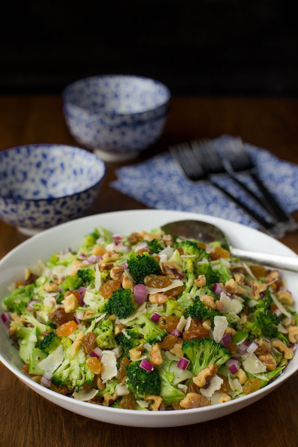 Shaved Broccoli Parmesan Salad with Lemon Mustard Dressing - healthy, unique and season-less, this delicious salad pairs perfectly with sandwiches, wraps and soups. It's also wonderful for parties and potlucks!