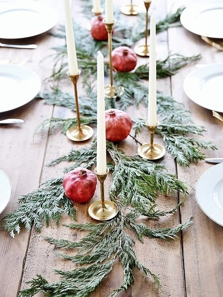 Photo of a holiday tablescape from Musings on Momentum.