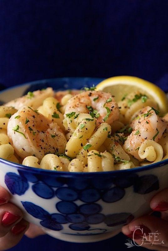 Skillet Shrimp and Pasta Scampi