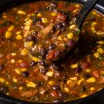Slow Cooker Black Bean and Chicken Sausage Tortilla Soup