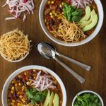 Slow Cooker Black Bean and Chicken Sausage Tortilla Soup - easy, fun and super delicious!