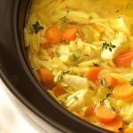 Slow Cooker Lemon Orzo Chicken Soup