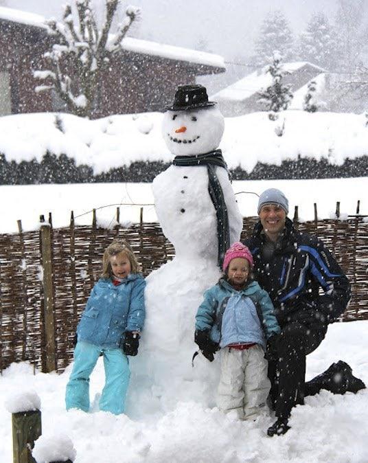 Snowy Day French Alps thecafesucrefarine.com