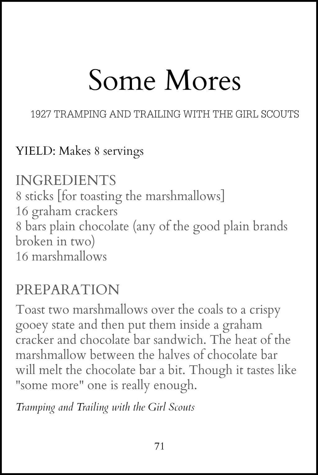 Original Some Mores Recipe