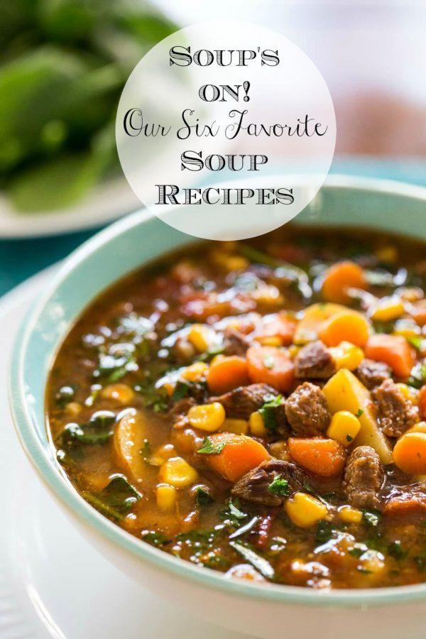 These six soup recipes are our easiest, most delicious and most pinned soups. So perfect for chilly days when you need a bit of warm comfort! #souprecipes, #bestsouprecipes, #easysoup, #fallsoups