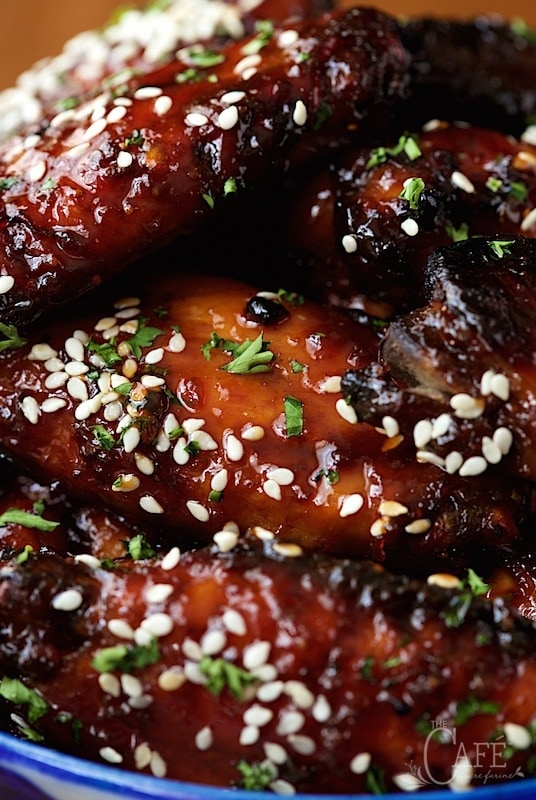 wings wings spicy bayou bourbon glazed wings mahogany glazed chicken ...
