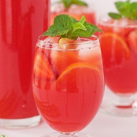 """Strawberry Lemonade - easy, homemade lemonade from scratch. T's incredible and truly the """"essence"""" of summer!"""