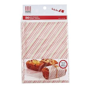 Striped Parchment Paper Sheets