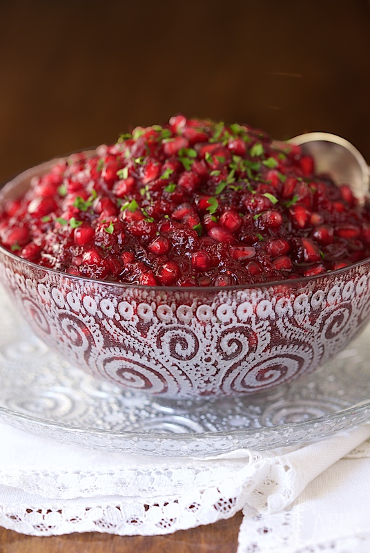 Super Easy, Crazy Delicious Pomegranate Cranberry Sauce - Super Easy, Crazy Delicious Pomegranate Cranberry Sauce - the easiest cranberry sauce ever with ginger, lemongrass and pomegranates!