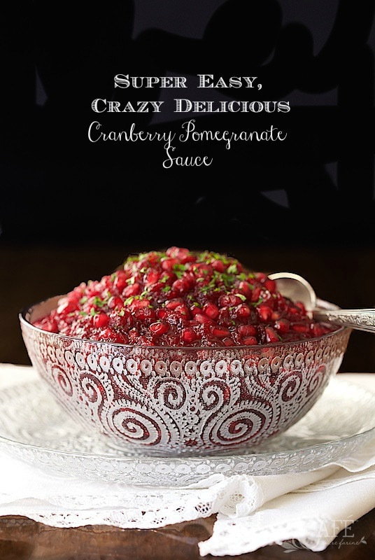 ... Pomegranate Cranberry Sauce - the easiest cranberry sauce ever with
