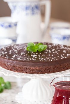 Vertical picture of Swedish Sticky Chocolate Cake