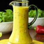Sweet and Spicy Mango Salad Dressing - so delicious, super easy and the anecdote for boring salads!