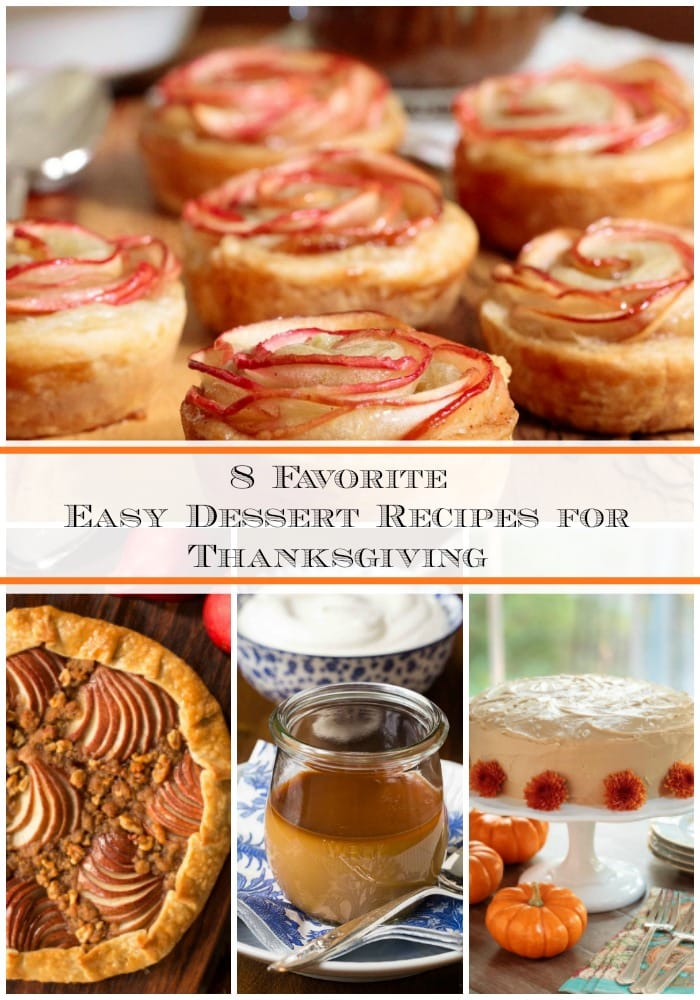 Eight holiday-worthy desserts, perfect for your Thanksgiving table!These easy recipes can all be made ahead, allowing you to enjoy the holiday. #thanksgivingdesserts #easyentertaining #thanksgiving