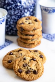 Vertical photo of The BEST Chocolate Chip Cookies