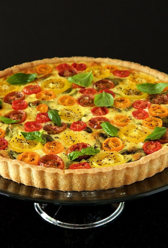 Tomato, Basil and Fresh Mozzarella Tart