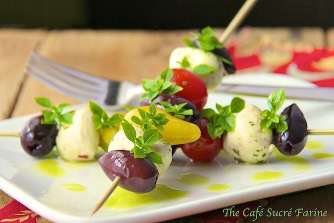 Tomato and Fresh Mozzarella Skewers - one of the easiest and most delicious appetizers ever!