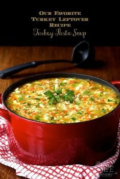 Best Turkey Leftover Recipe, Turkey Pasta Soup