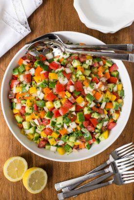 Turkish Tomato Cucumber Salad