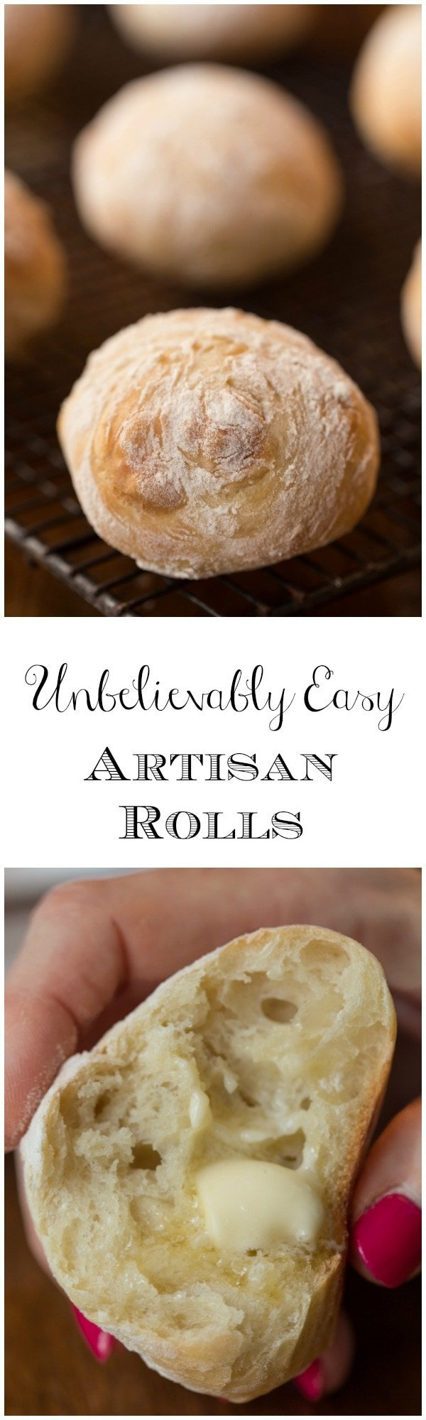These Easy Artisan Rolls truly are unbelievably easy. Stir up the dough then go to bed. In the morning, shape and bake. Unbelievably delicious too!