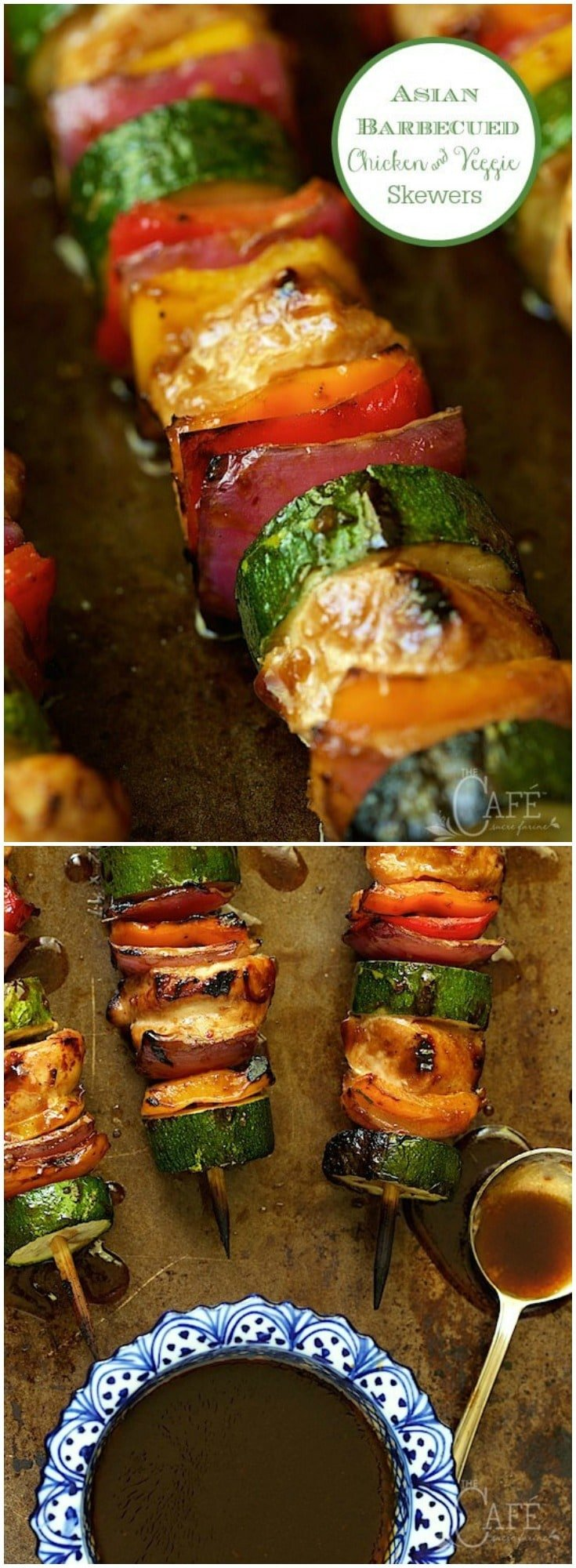These delicious, easy skewers are sweet and sticky, with a touch of heat.