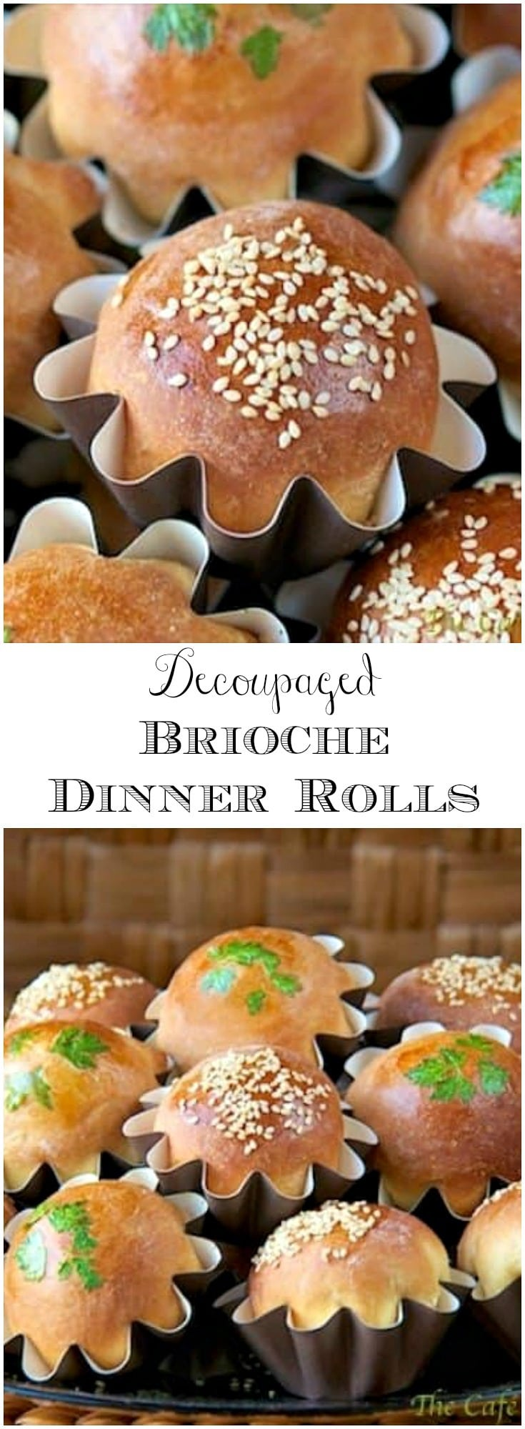 These tender, delicious brioche dinner rolls are not only beautiful little works of art; they are simply delicious.