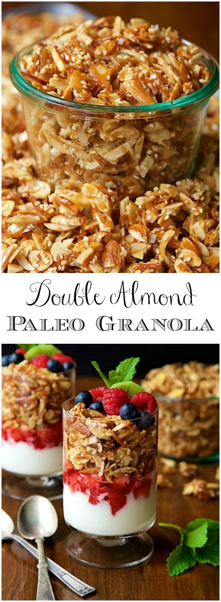 Deliciously addictive, this oat-free granola is easy to throw together with just five basic ingredients! You may never buy granola again!