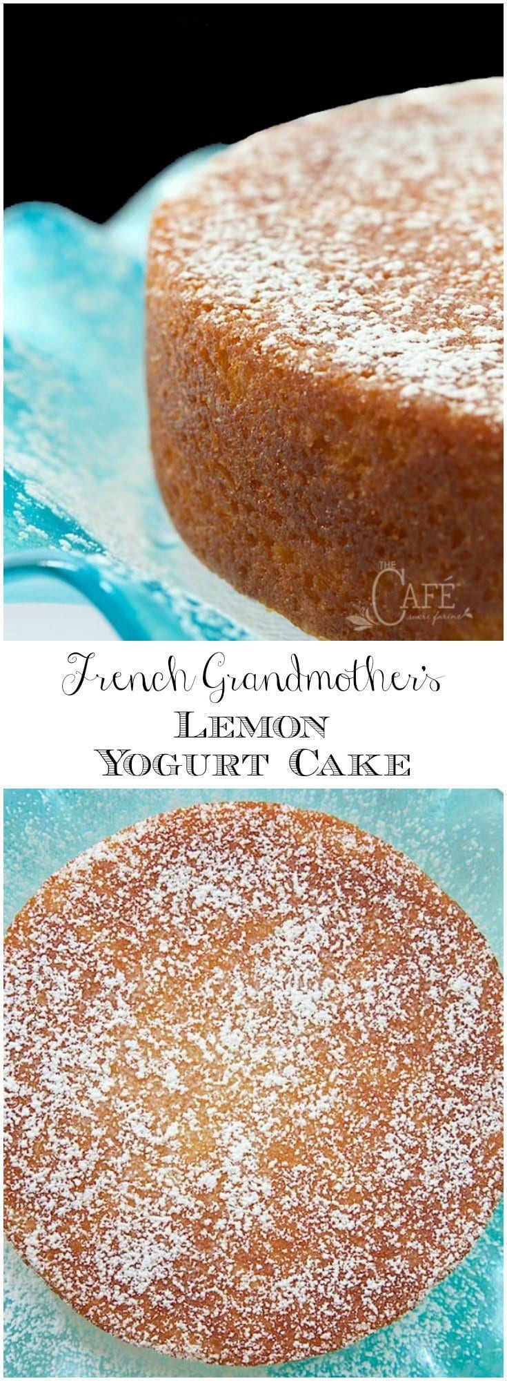 This fabulous French Grandmother\'s Lemon Yogurt Cake has a really fun history. It\'s also moist, super delicious and can be thrown together in minutes! #easylemoncake, #frenchlemoncake, #yogurtcake, #onebowlcake