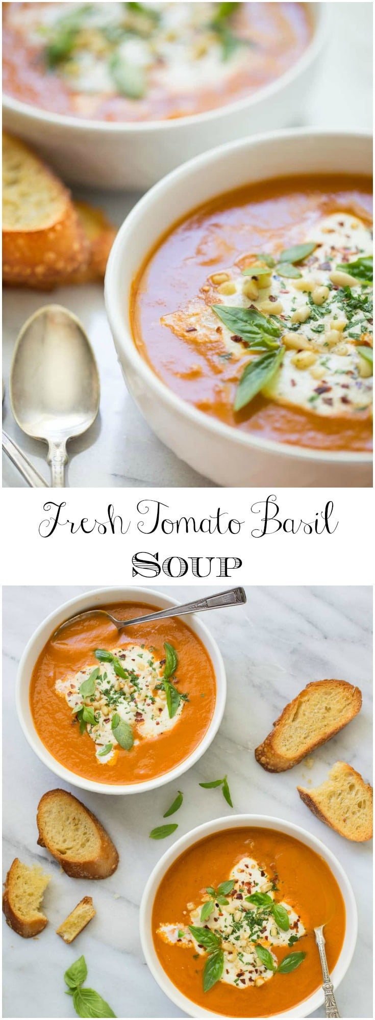 There's nothing quite like tomato soup made from fresh tomatoes and basil. Try it! You won't believe how delicious it is!