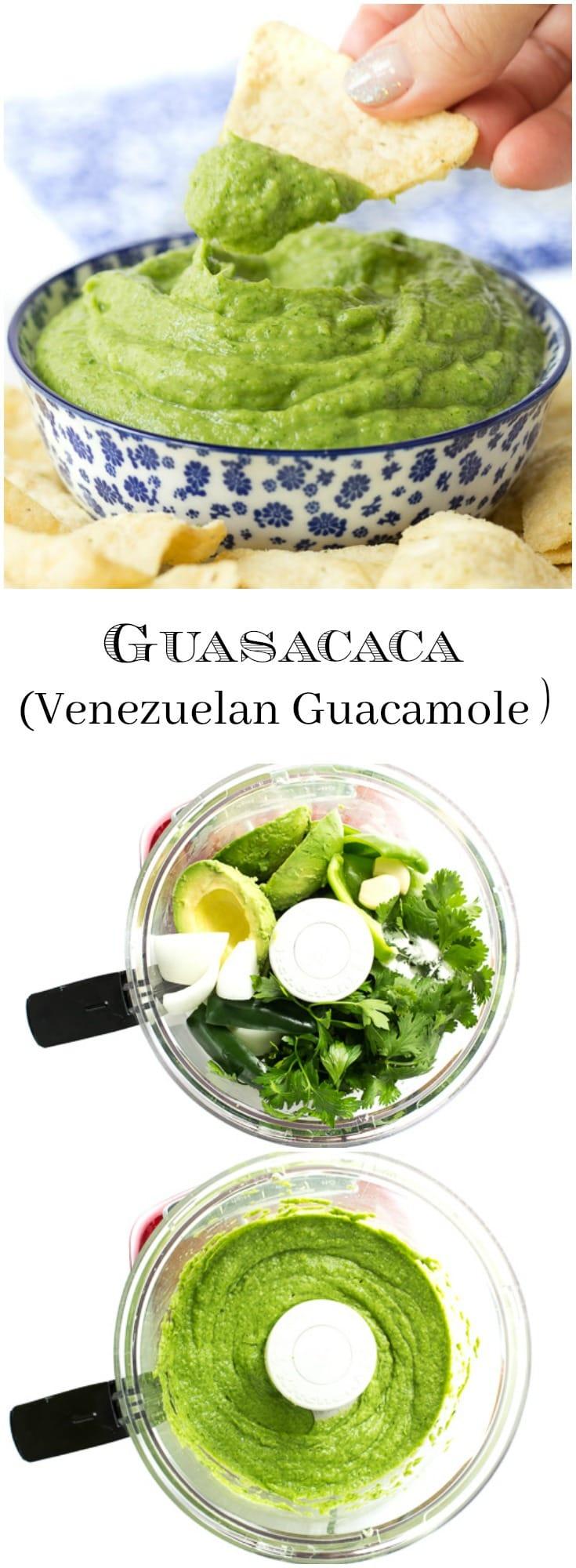 Guasacaca isVenezuela's unique version of guacamole. It's easy to make, vibrant, fresh and bursting with delicious flavor!