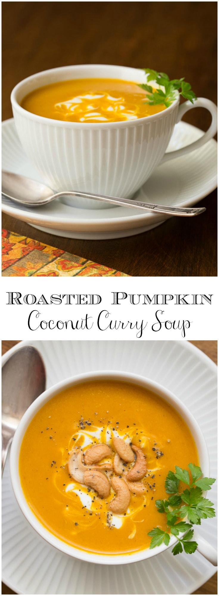 No one will know you cheated just a bit with this Roasted Pumpkin Coconut Curry Soup and honestly, no one will care! It's easy and so delicious!