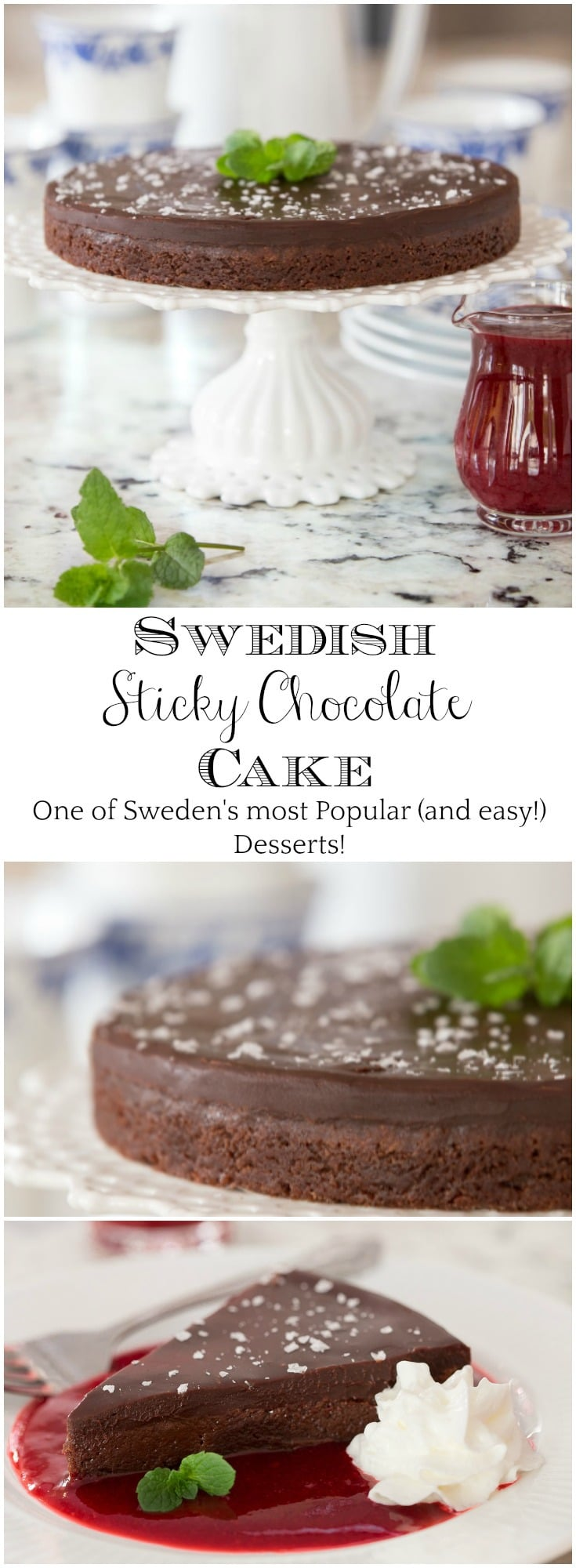 Kladdkaka (aka Swedish Sticky Chocolate Cake) is one of Sweden\'s most beloved (and easy!) desserts and every chocolate lover\'s dream come true! #swedishstickychocolatecake, #kladdkaka, #easychocolatedessert