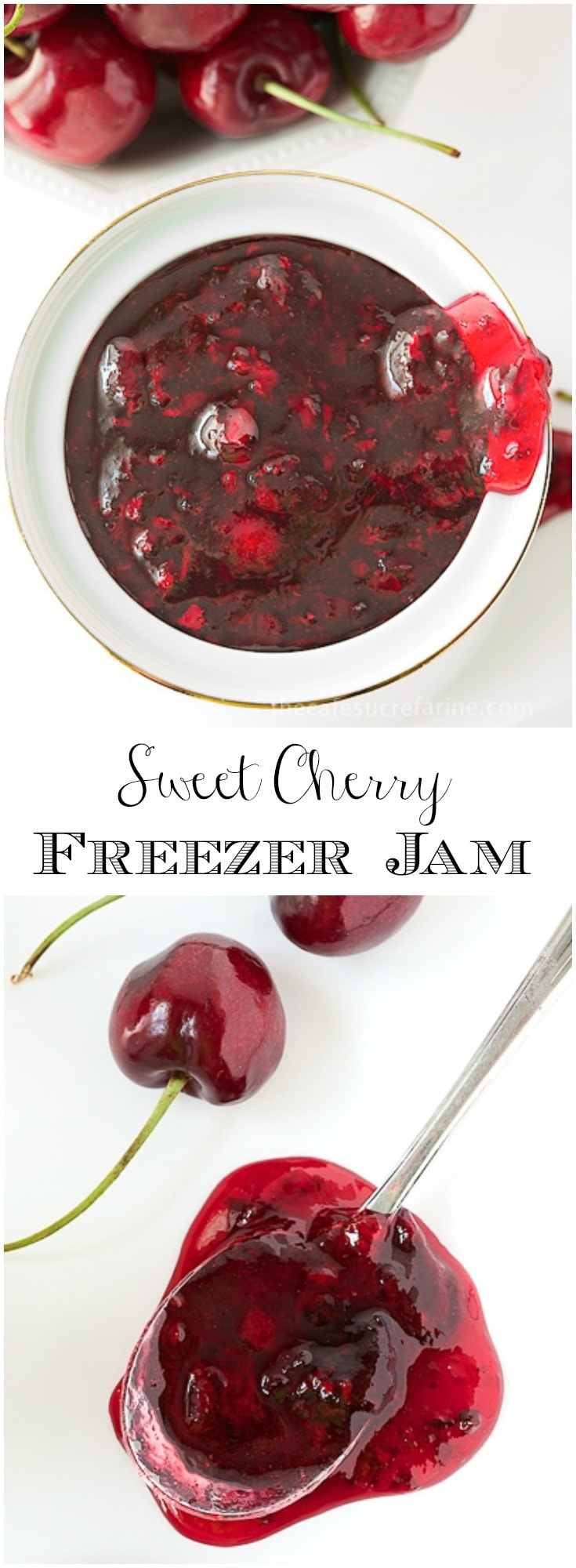 Just 30 minutes for a delicious taste of fresh cherries all year long! Sweet Cherry Freezer Jam is super easy and there are no canning skills needed!