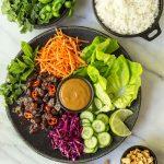 Vietnamese Carmel Pork Lettuce Wraps