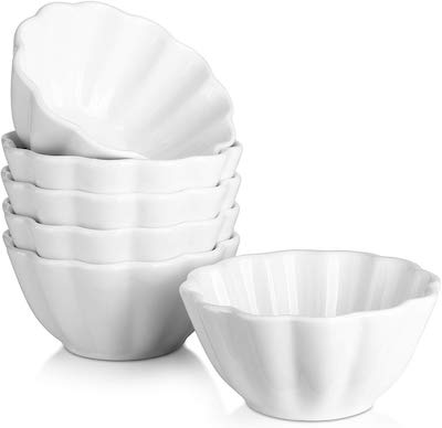 Stock photo of 4 ounce oven safe bowls.