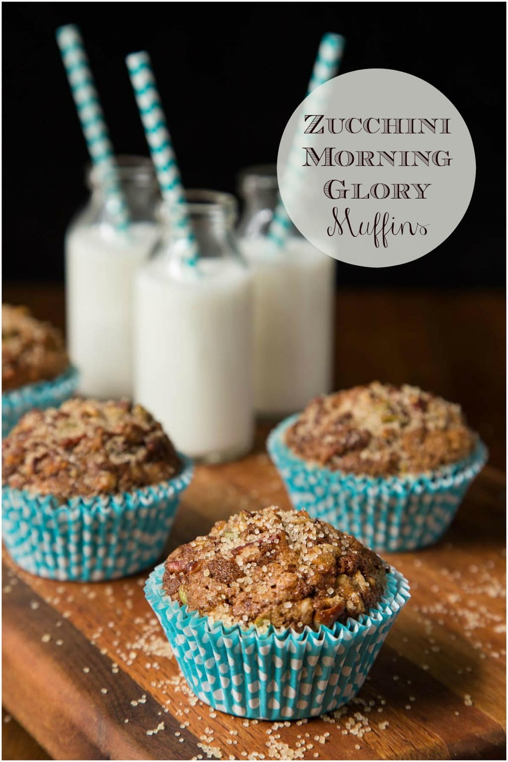 These Zucchini Morning Glory Muffins are healthy, moist, easy to throw together and super delicious! Perfect for breakfast, brunch and snacks! #morningglorymuffins, #easymuffins, #healthymuffins