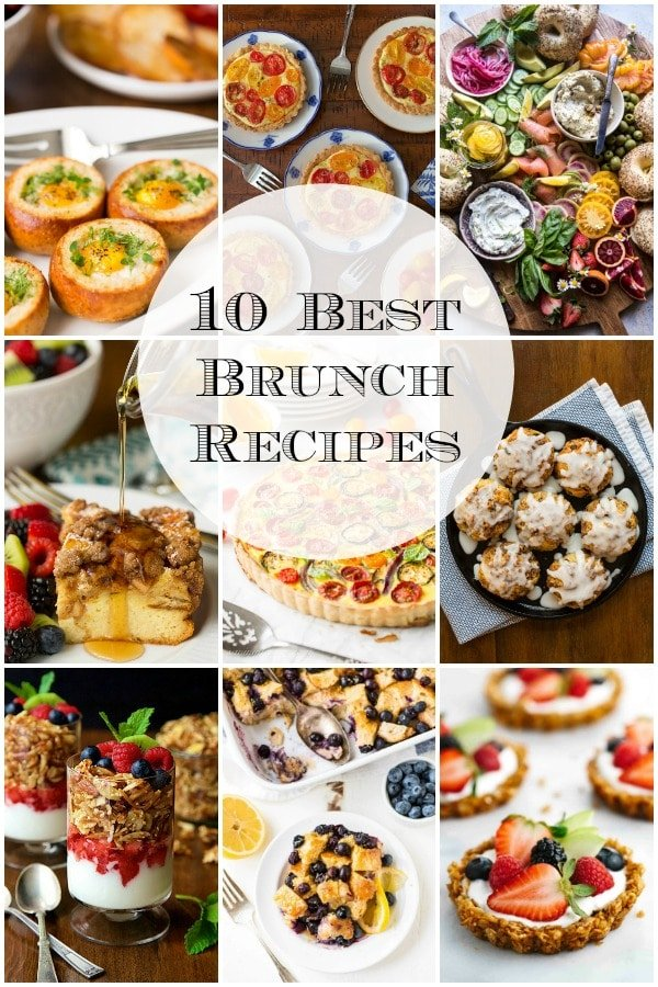 Ten of our favorite sweet and savory brunch recipes from the Café and around the web, perfect for all your spring celebrations! #brunch #bestbrunchrecipes #springbrunchideas